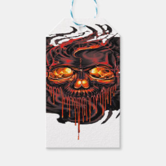 Bloody Red Skeletons PNG Gift Tags