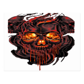 Bloody Red Skeletons PNG Postcard