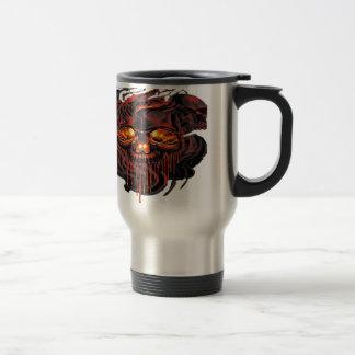 Bloody Red Skeletons PNG Travel Mug