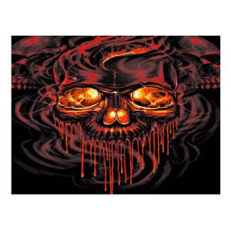 Bloody Red Skeletons Postcard