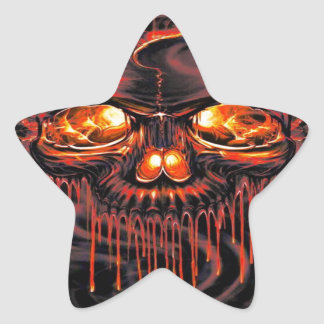 Bloody Red Skeletons Star Sticker