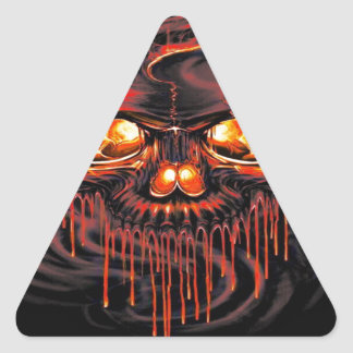 Bloody Red Skeletons Triangle Sticker