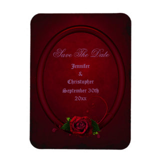Bloody Rose Frame Save The Date Goth Wedding Magnets