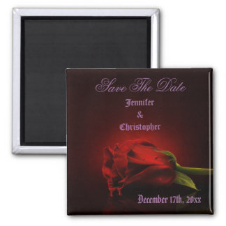Bloody Rose Gothic Save The Date Wedding Magnet