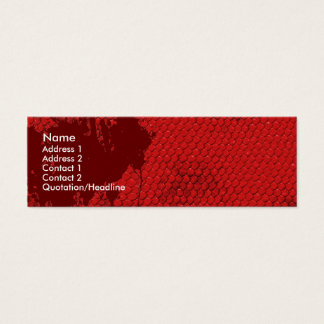 Bloody Scales Mini Business Card