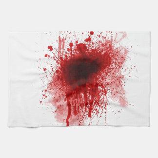 bloody shotgun wound tea towel