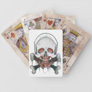bloody skull and bones card deck