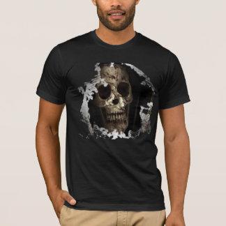bloody skull graphic t-shirt design