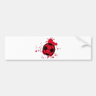 Bloody soccer ball bumper sticker