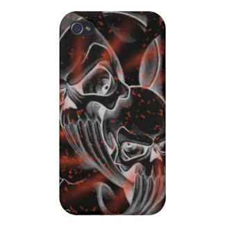 Bloody splatter skullz case iPhone 4 covers