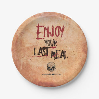 Bloody spooky creepy Enjoy Your Last Meal Plate