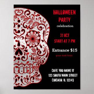 Bloody Sugar Skull Poster