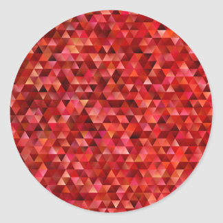 Bloody triangles classic round sticker