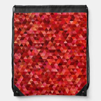 Bloody triangles drawstring bag