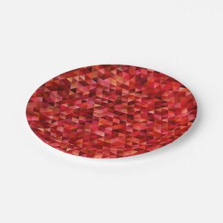 Bloody triangles paper plate
