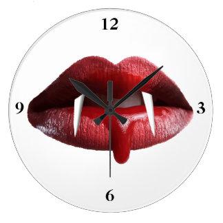 Bloody Vampire Red Lipstick Lips Wallclocks