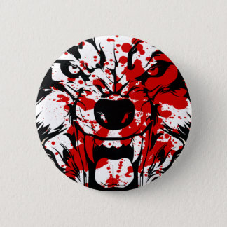 Bloody Wolf 6 Cm Round Badge