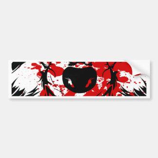 Bloody Wolf Bumper Sticker