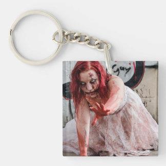 Bloody Zombie Apocalypse Girl Key Chain