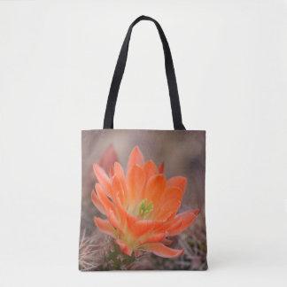 Bloom in orange tote bag