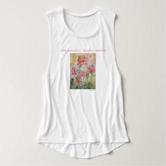 Bloom Inspiration Floral Watercolor Art Tank Top