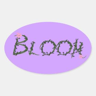 Bloom Oval Sticker