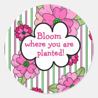 Bloom! Round Sticker