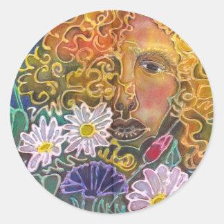 Bloom Round Sticker