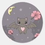 Bloom the Fruit Bat Round Sticker