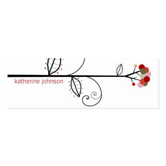 Bloom Tree Dots | *05 Profile Card | Gift Tag | Business Cards