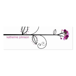 Bloom Tree Dots | *06 Profile Card | Gift Tag | Business Card Templates