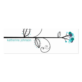 Bloom Tree Dots | *08 Profile Card | Gift Tag | Business Card Templates