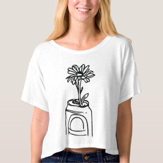 Bloom where you are, flower in old can T-Shirt
