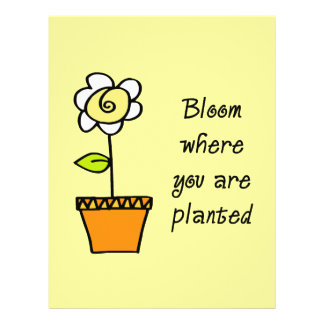 Bloom Where You Are Planted II 21.5 Cm X 28 Cm Flyer