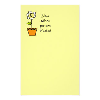 Bloom Where You Are Planted II Customised Stationery
