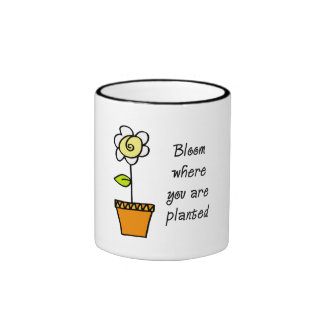 Bloom Where You Are Planted II Ringer Mug