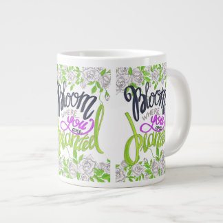 Bloom Where You Are Planted Large Coffee Mug