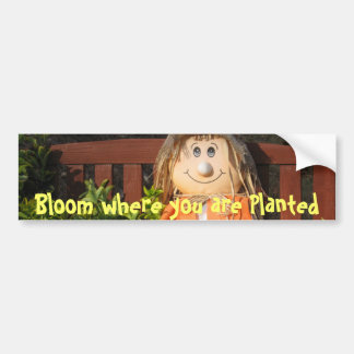 Bloom Where you Planted Bumper Sticker