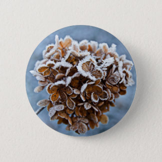 Bloom with ice crystals 6 cm round badge