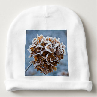 Bloom with ice crystals baby beanie