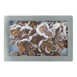 Bloom with ice crystals belt buckle