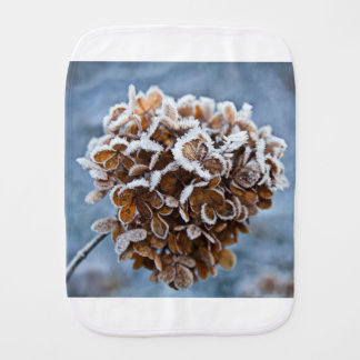 Bloom with ice crystals burp cloth