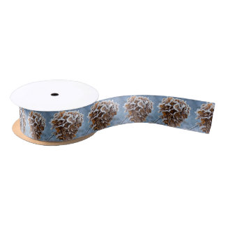 Bloom with ice crystals satin ribbon