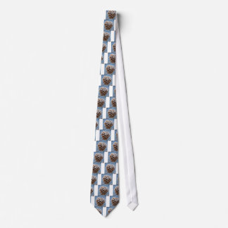 Bloom with ice crystals tie