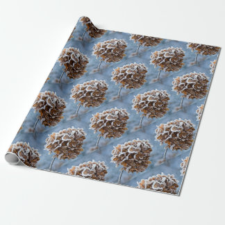 Bloom with ice crystals wrapping paper
