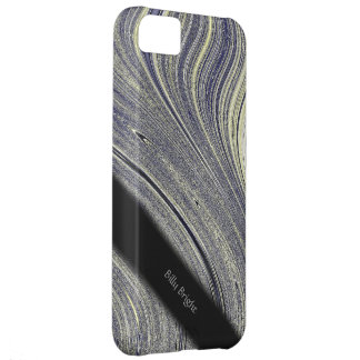 Bloomin Blue Fractal Glimmer Personal iPhone5 Case