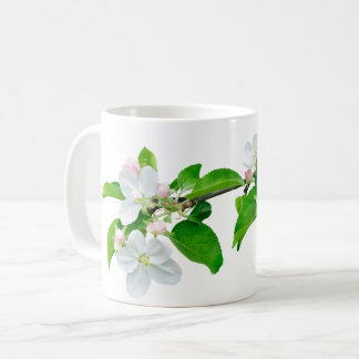 Blooming apple tree branch coffee mug