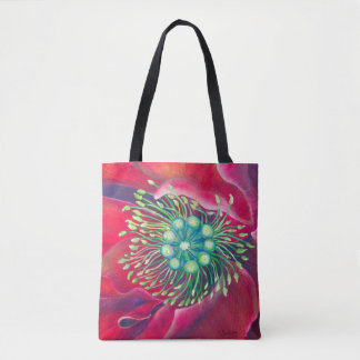 Blooming Art ►Poppy in the Wind by CraftiesPot Tote Bag