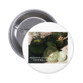 BLOOMING BARREL CACTI AND ASSORTED PHRASES PIN