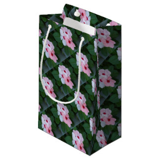 Blooming Beautiful Pink Impatiens Flowers Small Gift Bag